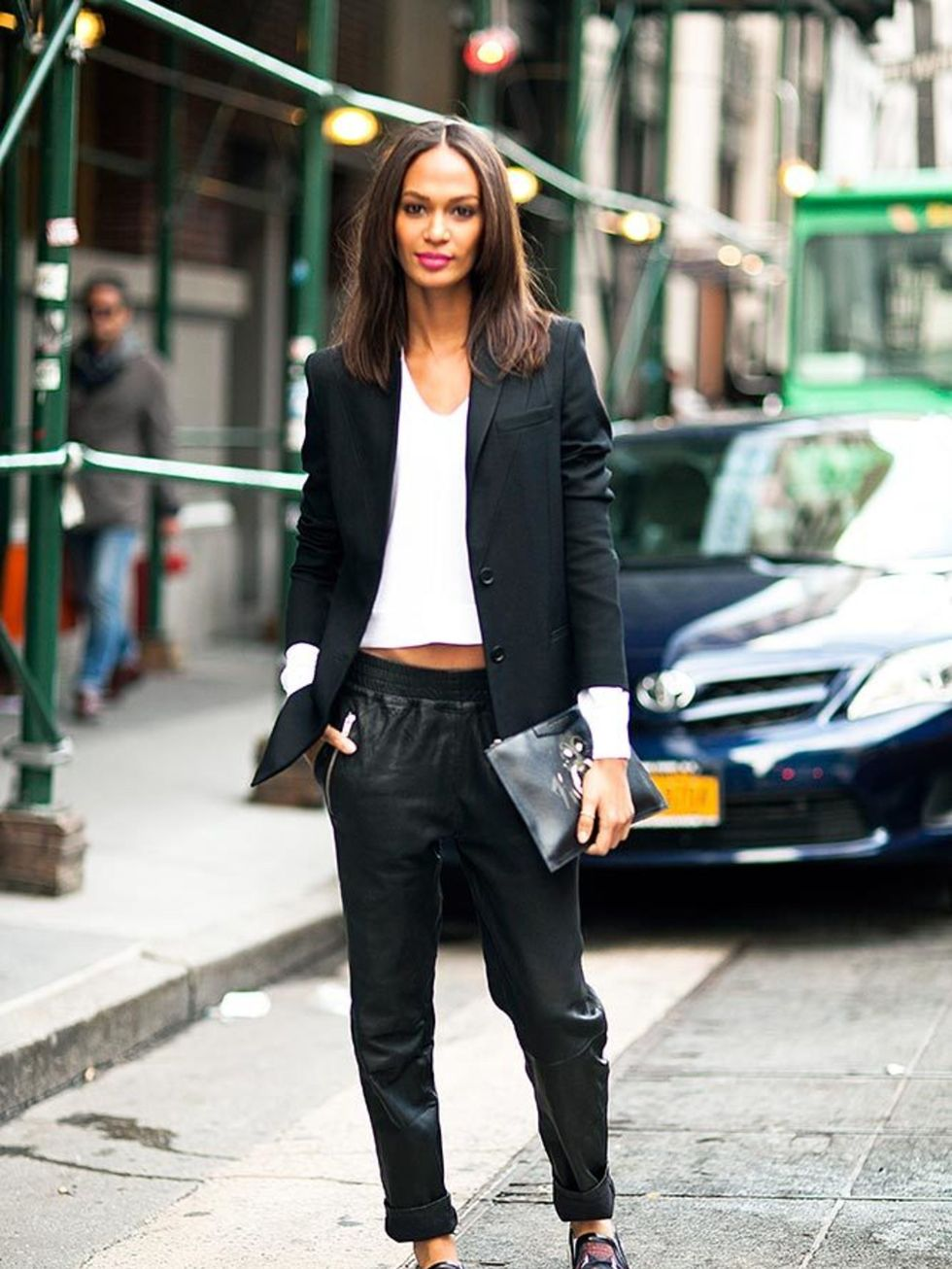This Model-Off-Duty's Business Casual Look is Our Current Obsession — Joan Smalls Street Style