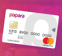 Papara Card Fotoğrafı