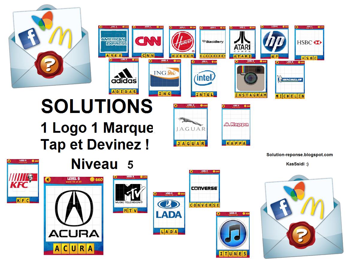 solution 1 logo 1 marque quiz niveau 5 toutes les solutions r ponses des jeux android iphone. Black Bedroom Furniture Sets. Home Design Ideas