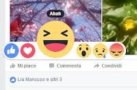 Nuovo Mi Piace su Facebook con Reazioni e Faccine Love, Wow, Ahah, Sigh e Grrr