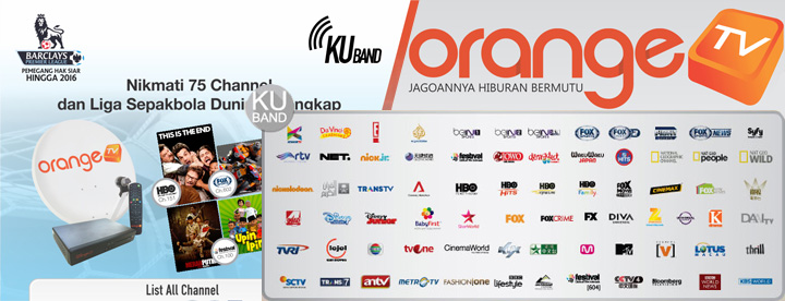 daftar paket channel orange tv ku band