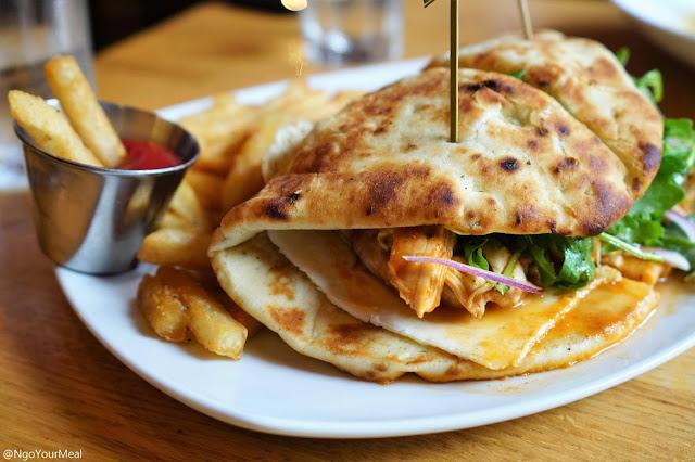 Chicken Tikka Sandwich at Tip Tap Room in Boston