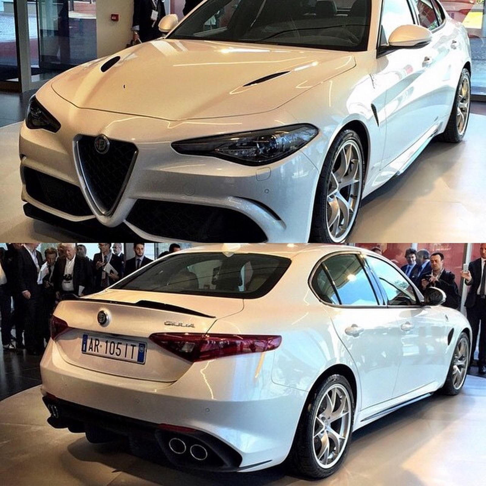 Take A Look At Alfa Romeo Giulia QV In Pure White