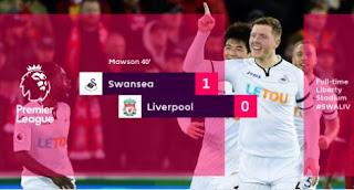Swansea City vs Liverpool 1-0 Highlights