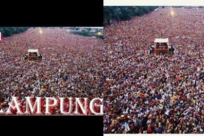 Viral di Facebook Foto Kampanye Jokowi di Lampung bak Lautan Manusia, Faktanya Mengejutkan
