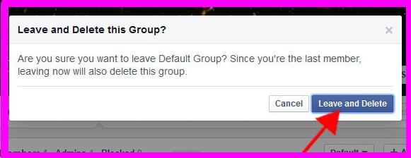how to delete a group on facebook that i joined