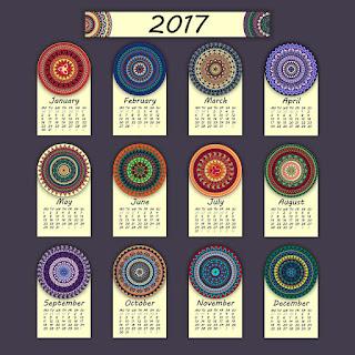 2017カレンダー無料テンプレート107