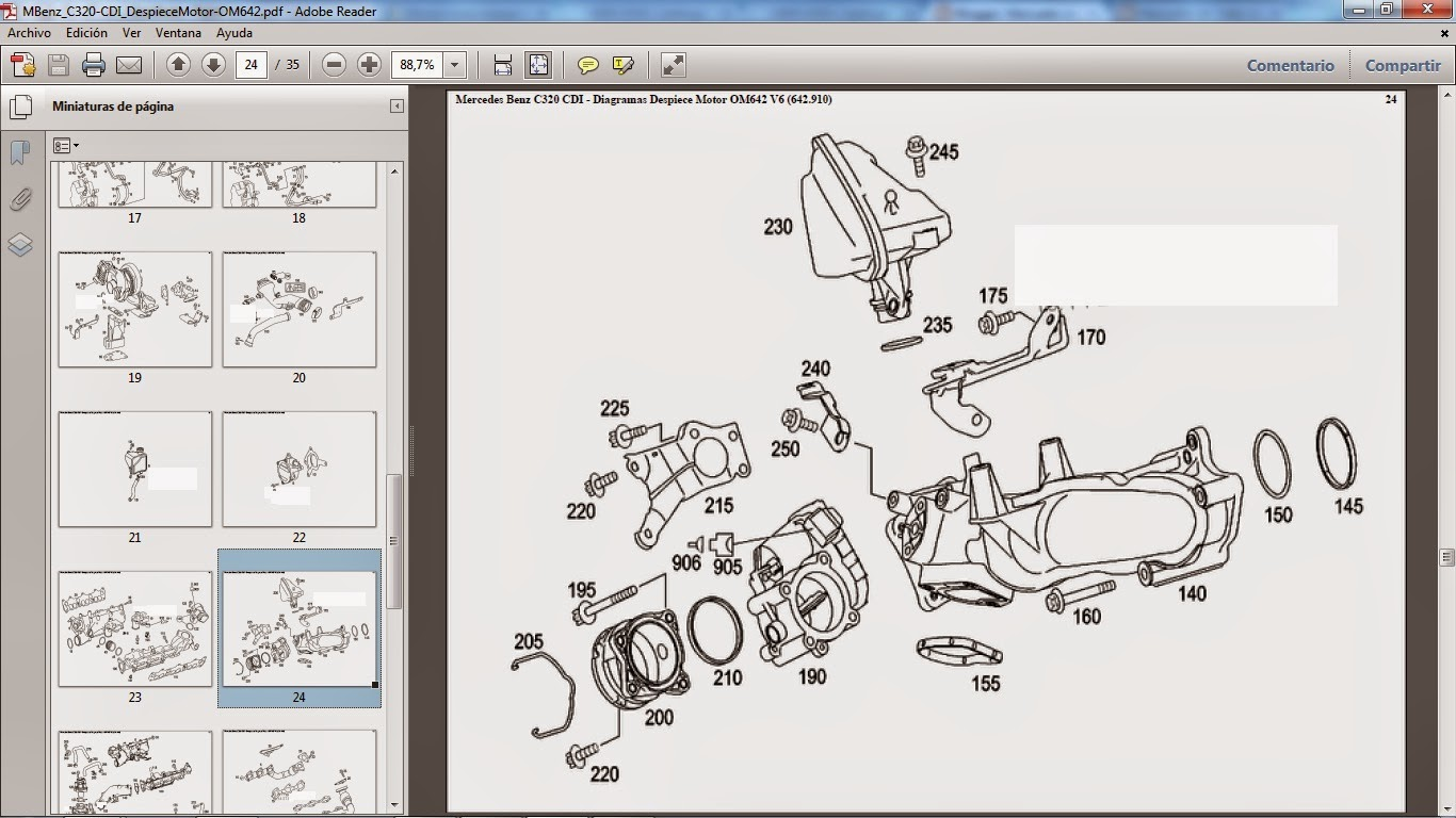 Mercedes Ml320 Cdi Workshop manual