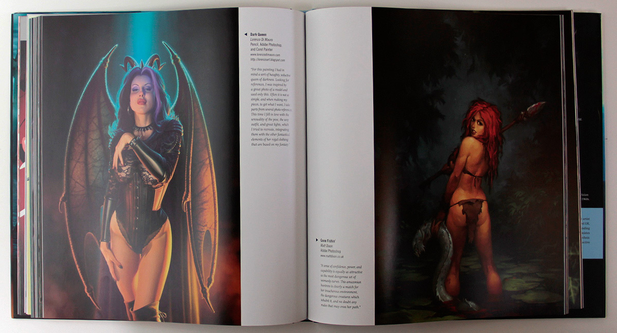 Erotic fantasy art book