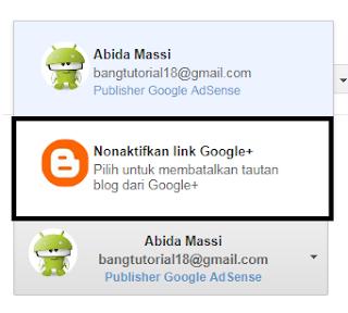 Nonaktifkan Link Author Google Plus