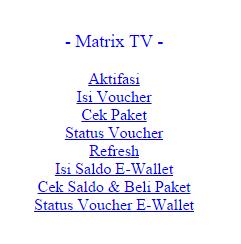 Cara Aktivasi Decoder Matrix Garuda MPEG4 HD