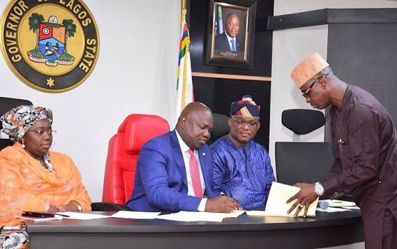 LAGOS STATE GOVERNOR, GOV. ABODE SIGN LIFE IMPRISONMENT LAW FOR ALL KIDNAPPERS IN LAGOS...