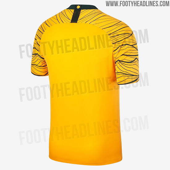 Australia 2018 World Cup Home and Away Kits + Pre-Match Jersey ... dcbef76ad