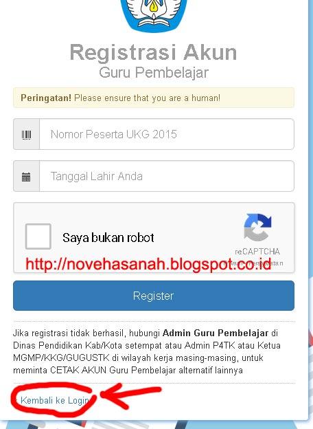 setelah registrasi berhasil kita dapat langsung login pada cara registrasi dan login guru pembelajar online kemdikbud 6