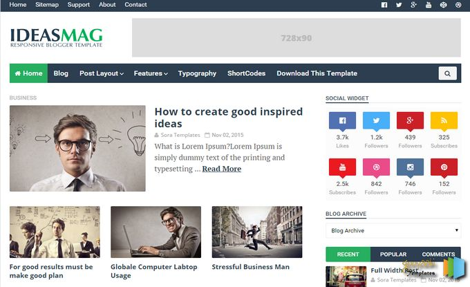 Top 5 blogger templates for photo gallery ideasmag blogger template cheaphphosting Gallery