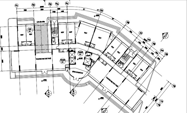 Mặt bằng kiot tòa HH03A chung cư B1.3 Thanh Hà