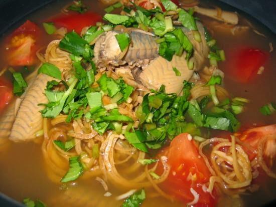 Lươn nấu bắp chuối hột
