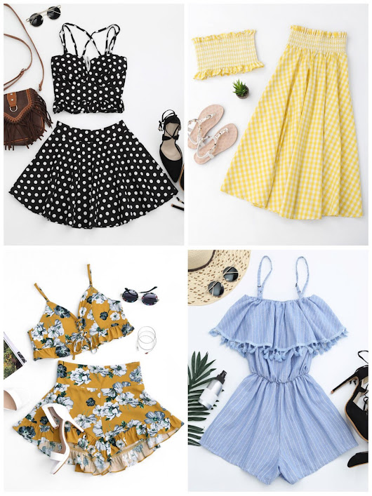 Summer Two Piece Sets and Rompers