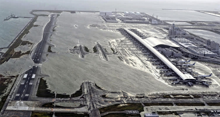 Kansai Airport Flooded