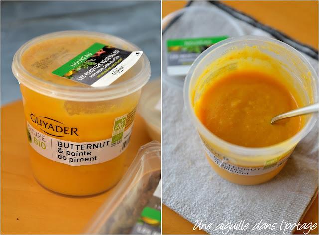Soupe bio butternut et pointe de piment Guyader gamme végétale