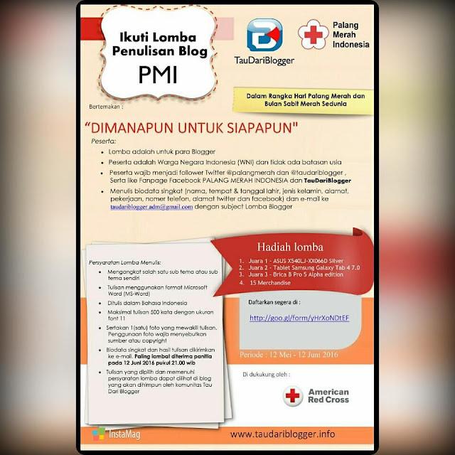 Lomba Blog PMI Berhadiah Laptop Asus