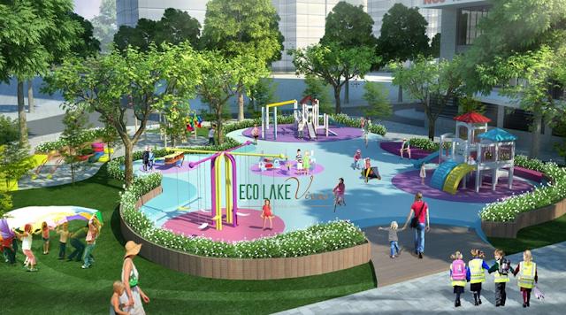 Công viên và khu vui choi chung cư ECO LAKE VIEW