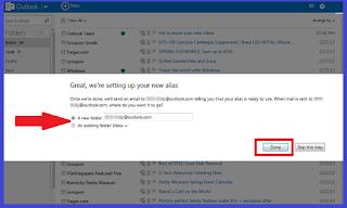 Verify an outlook email alias