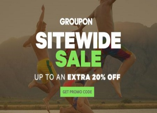 Groupon Sitewide Sale Up To 20% Off Promo Code