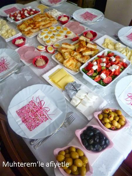 Anneler günü kahvaltısı
