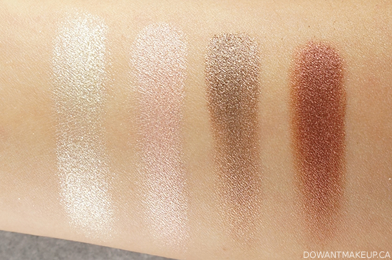 Lise Watier Féline Eyeshadow Quartet swatches