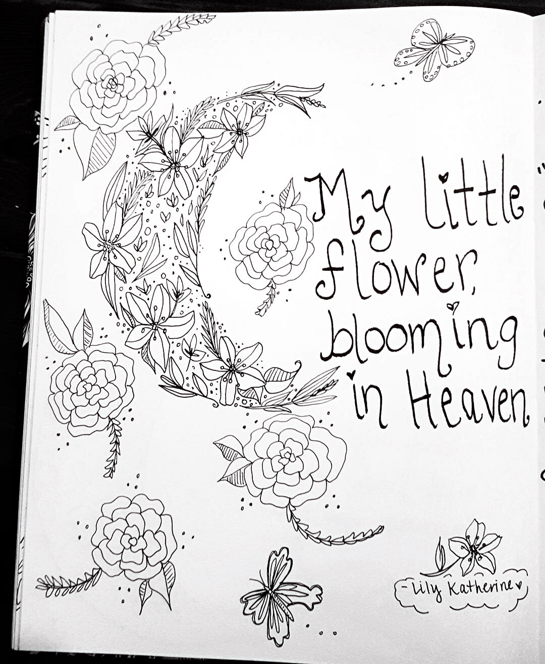 rose and her lily avery u0027s garden coloring page