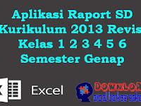 Aplikasi Raport SD Kurikulum 2013 Revisi Kelas 1 2 3 4 5 6 Semester Genap