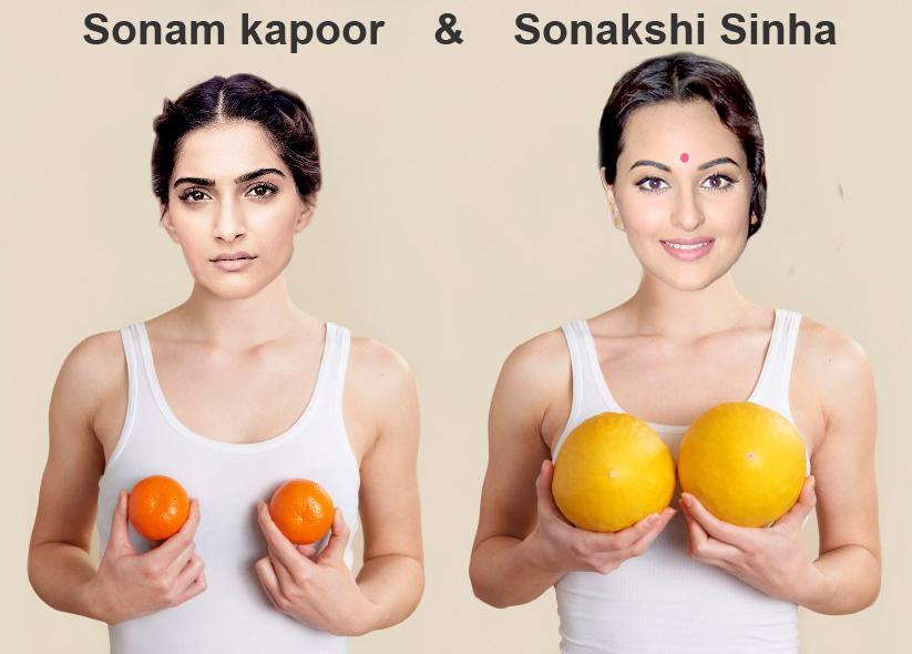 Sonakshi Sinha 2000p Photos: Sonam Kapoor And Sonakshi Sinha Funny B**bs
