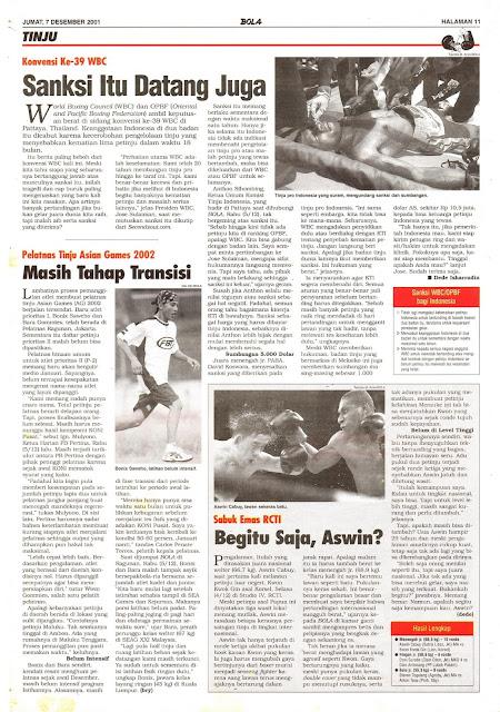 KONVENSI KE-39 WBC SANKSI ITU DATANG JUGA