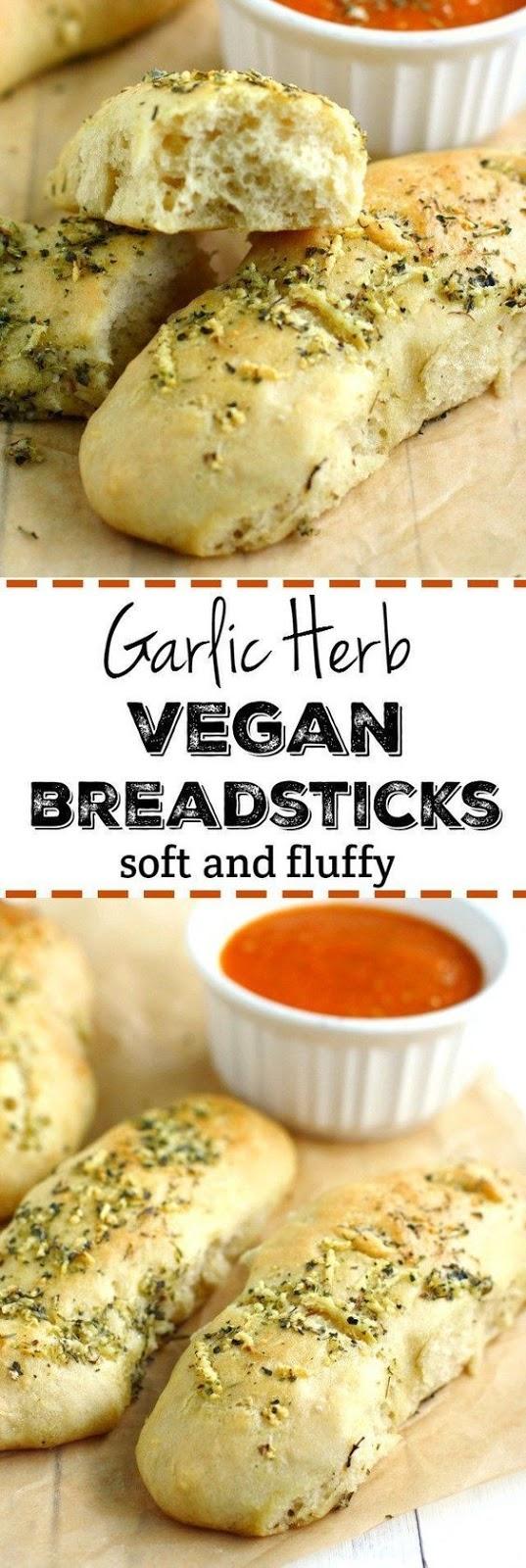 Vegan Garlic Herb Breadsticks