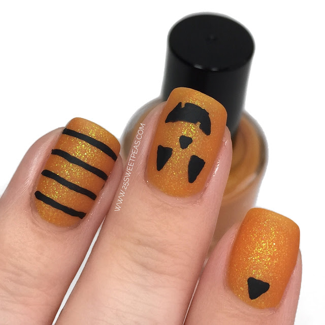 Jack-o-Lantern Nail Art
