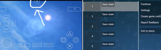 Cara Memunculkan Save State dan Load State Emulator PPSSPP Di Android