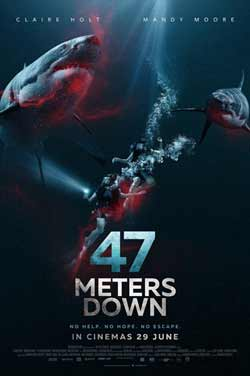 47 Meters Down 2017 Hollywood 300MB WEB DL 480p ESubs at movies500.me
