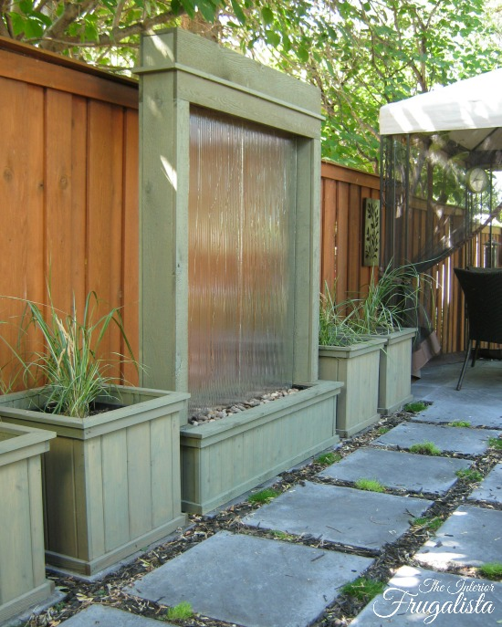 How to build a DIY Patio Water Wall
