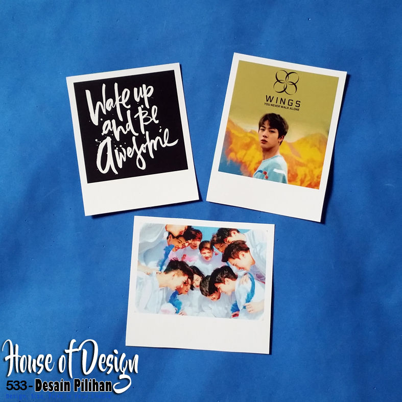 FOTO MODEL POLAROID BTS KPOP IDOL CUSTOM MURAH