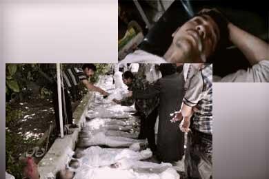 Muerte químicos en Siria