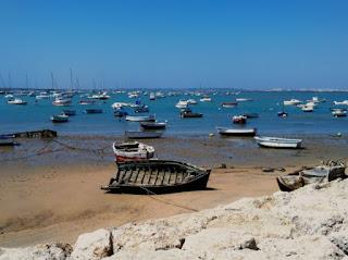 Escena Marina barcos, Sancti Petri, Cádiz.