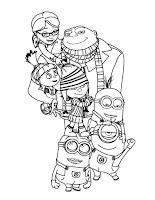 Colorir desenhos do filme do Gru Maldisposto