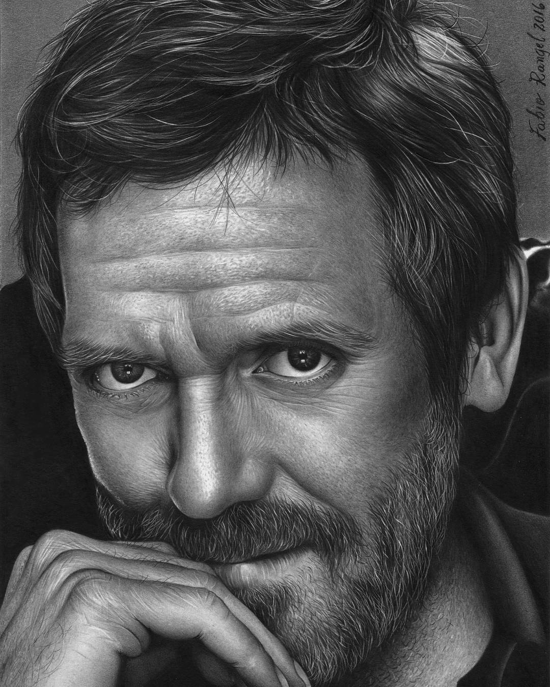 11-Hugh-Laurie-Gregory-House-Fabio-Rangel-Drawings-of-Protagonists-from-TV-and-Movies-www-designstack-co