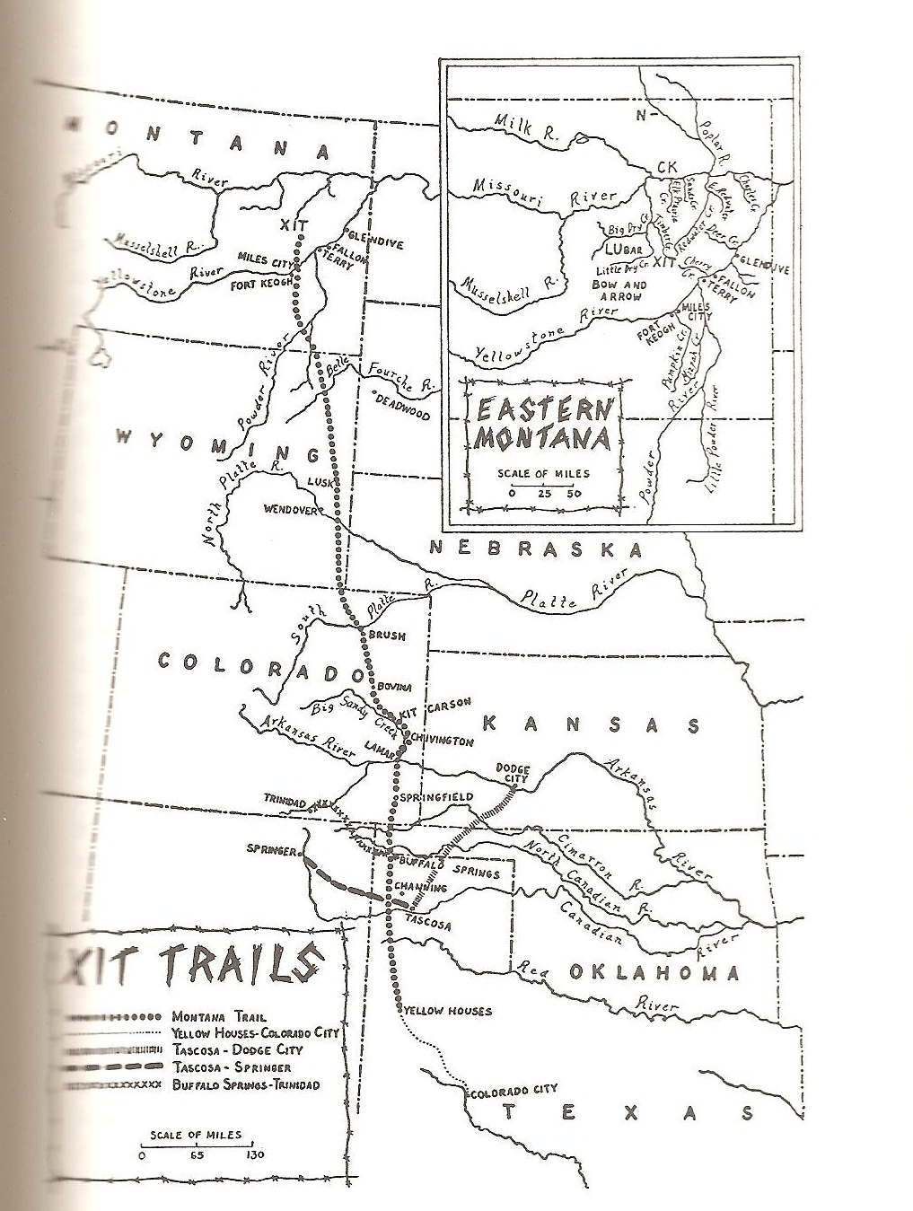 Map Of Xit Ranch Texas.Texas Ranches Xit Montana Trail
