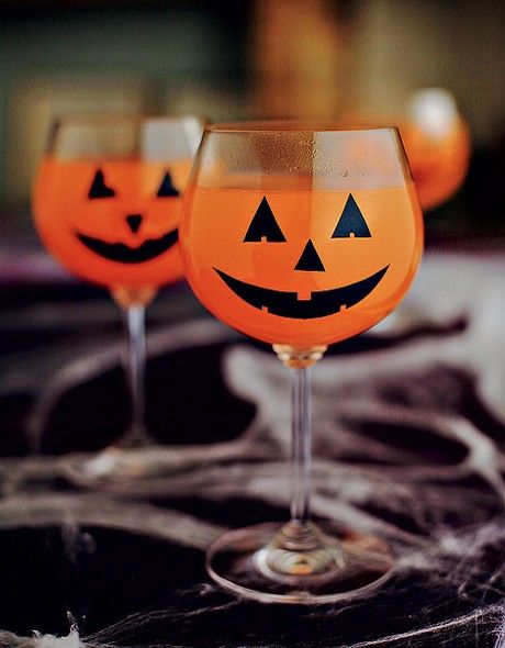 Idéias fáceis para Halloween comida, copo de fanta personalizado