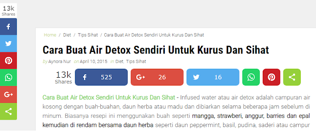 Artikel Paling Top View & Share Dalam Aynorablogs