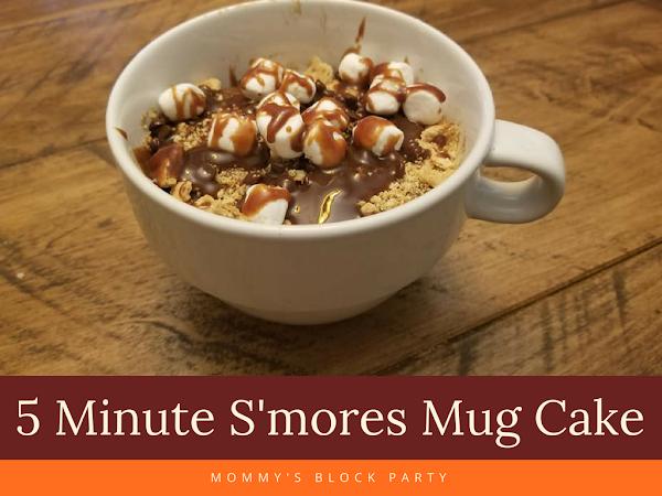 5 Minute S'mores Mug Cake