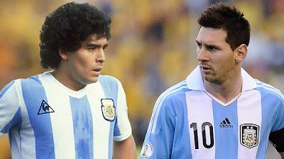 leonel vs maradona