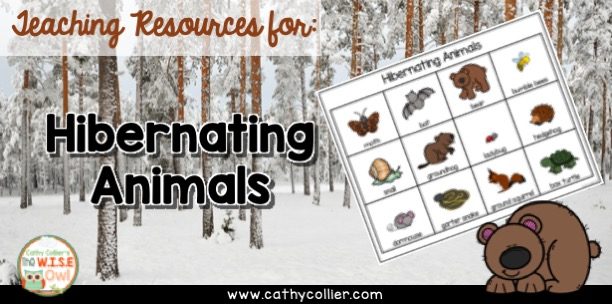 Hibernating Word List for writing and word play. It's a fun unit with early learners.